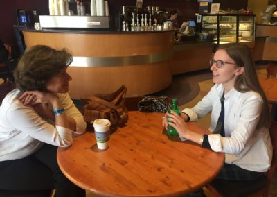 Elizabeth Dearden Williams meets with mentor Anne Witkowsky