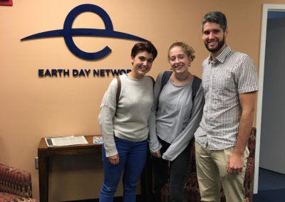 Laia, Mar and Sebastian Rosemont at Earth Day Network